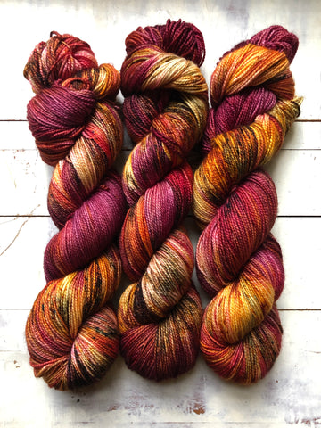 Phoenix Rising-Foxy Sock-Super Fine Ready to Ship