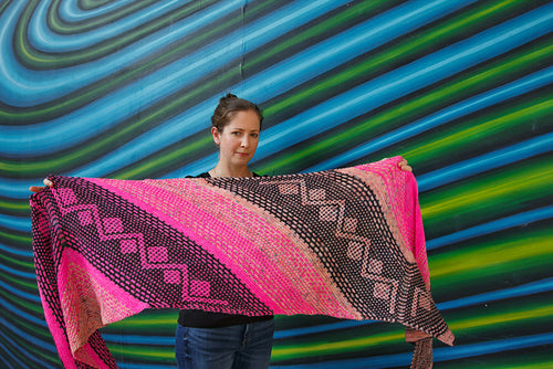 South Alamo Street Shawl Pattern-Digital Download