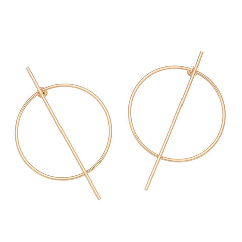 Matte Gold Sculptural Earring