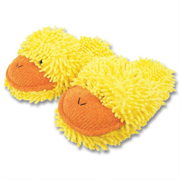 Fuzzy Friend Slippers Duck