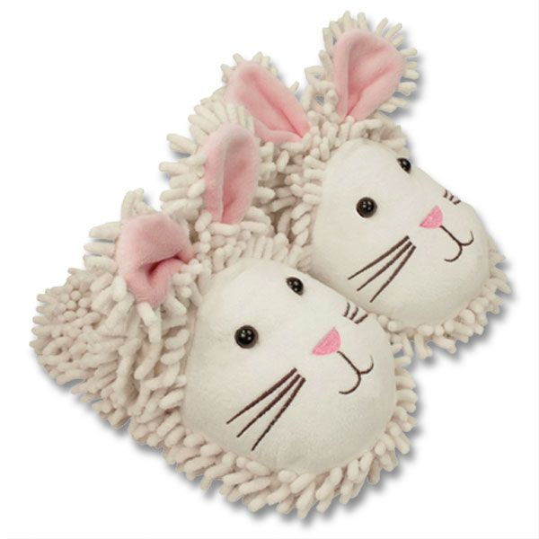 Fuzzy Friend Slippers Bunny