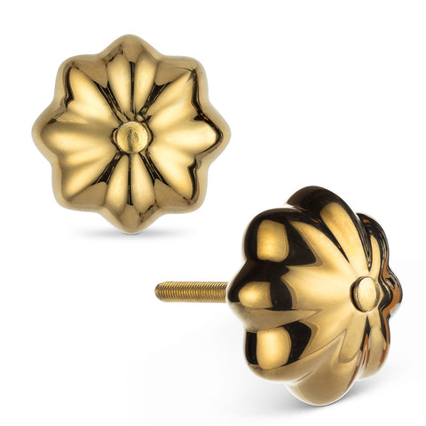 "Gold Pumpkin Knob-1.5""D"