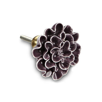 Purple Flower Drawer Pull - Across The Way