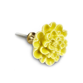 Yellow Flower Drawer Pull - Across The Way
