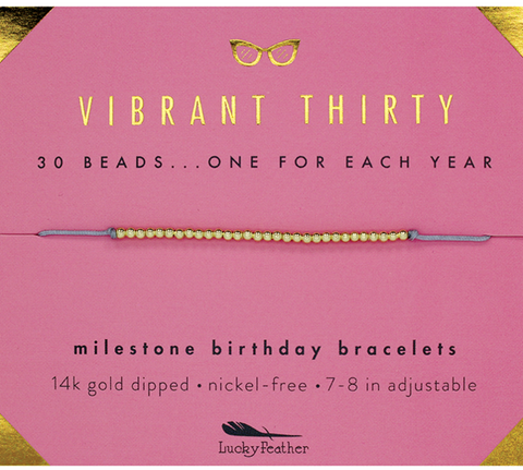 30th Birthday bracelet - Across The Way