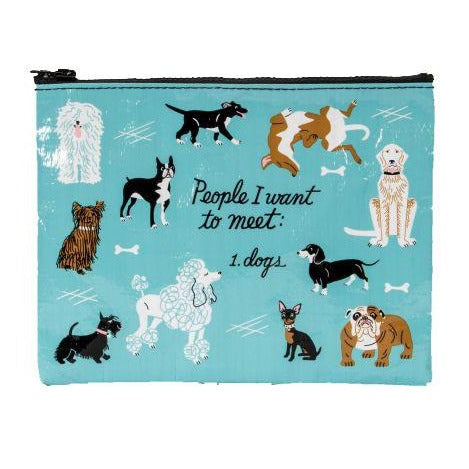 People to Meet Dogs Zipper Pouch