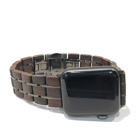 42mm - 44mm Leadwood & Gunmetal - Apple Watch Band
