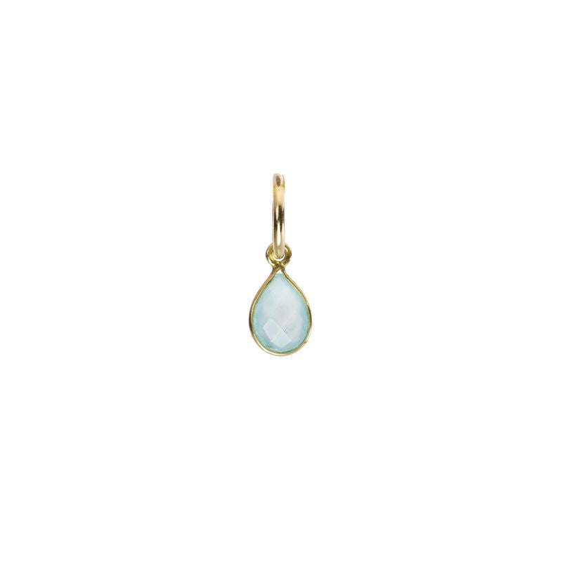 Tiny Pear Gemstone Aqua - Across The Way