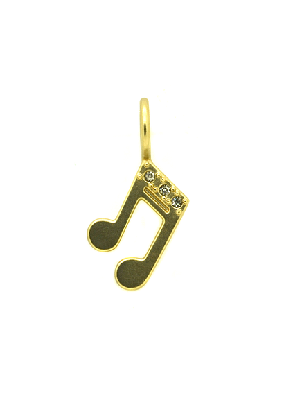 Music Note charm Gold - Across The Way