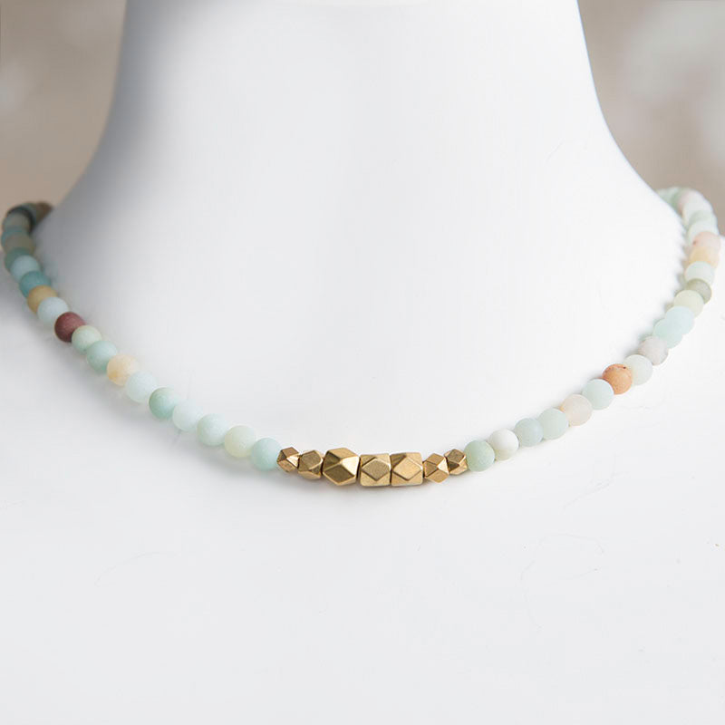 Jerry Gemstone Choker - Amazonite