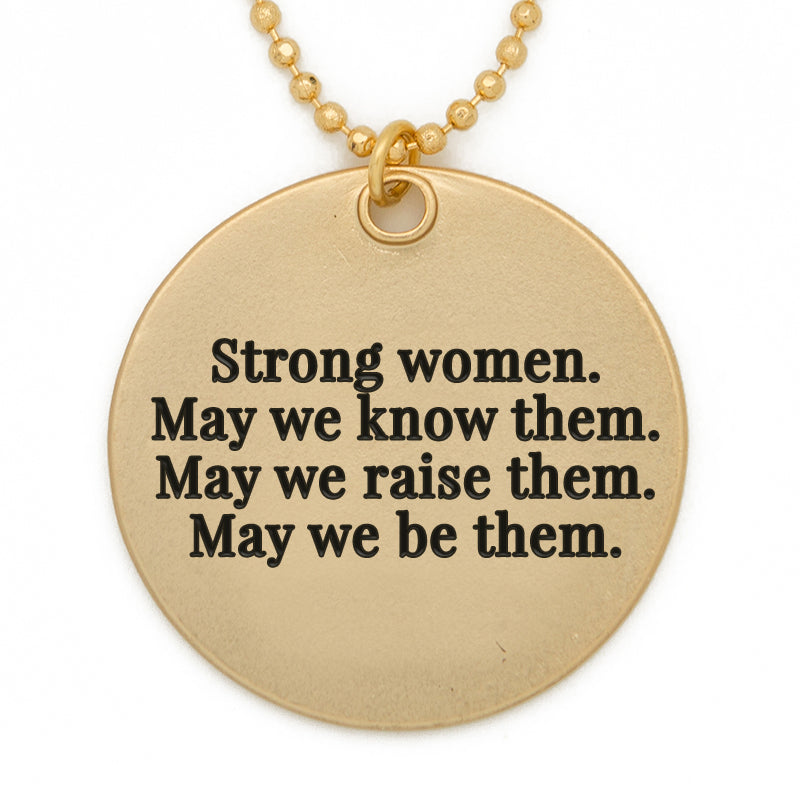 Lg Circle Strong Women matte gold