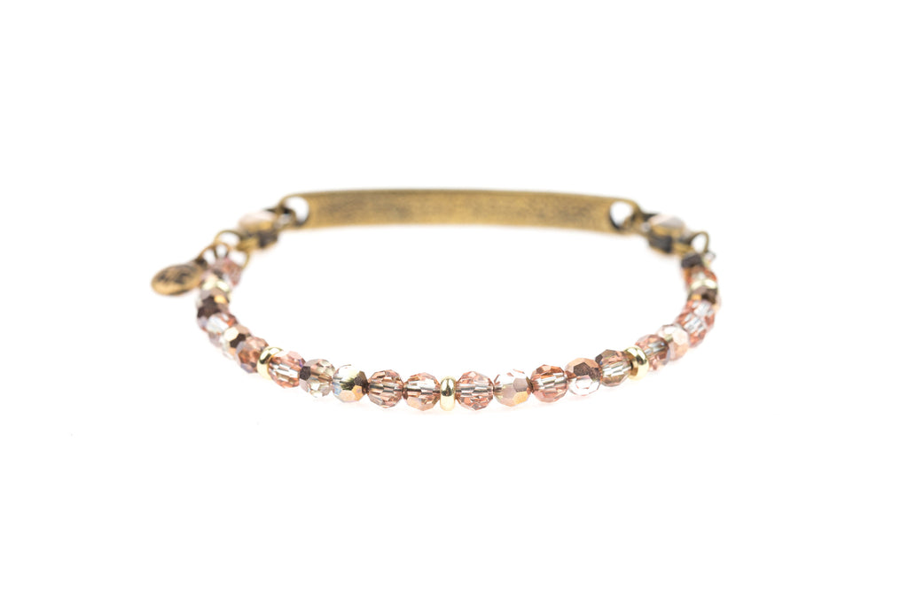 Classic Bangle Crystal Peach - Across The Way