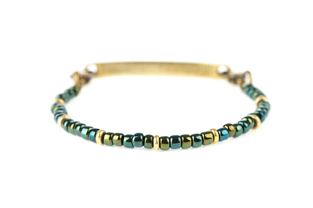 Classic Bangle Irdescent Green - Across The Way