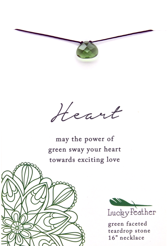 Power Necklace Green Heart