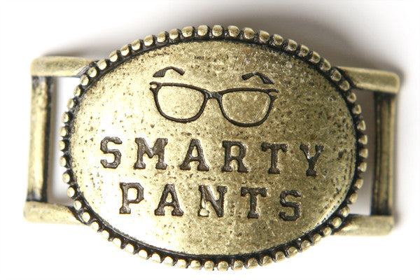 Smarty Pants. antique brass - Across The Way