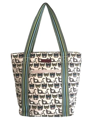 Striped Tote - Cat