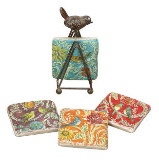 Bird Coasters with Bird stand - Across The Way
