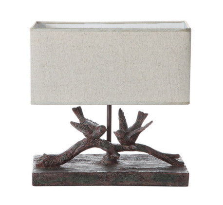 Bird Lamp Rectangle Shade 40 Watt max - Across The Way