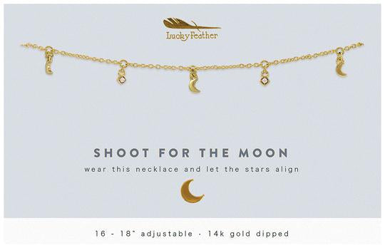 Dangle Necklace Moon