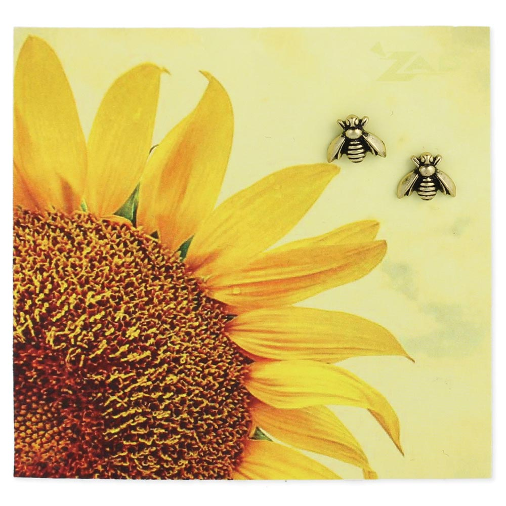 Picture Bee Post Earrings - Across The Way