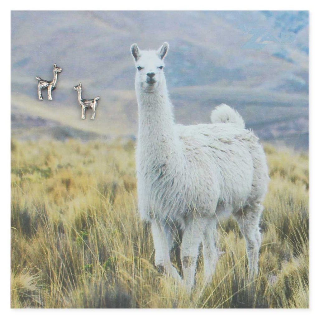 Picture Llama Post Earrings - Across The Way