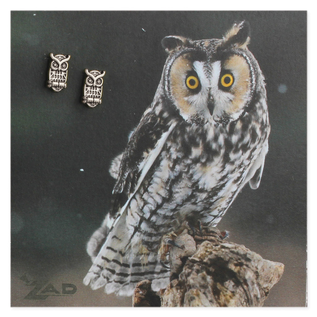 Picture Horned Owl Post Earings - Across The Way