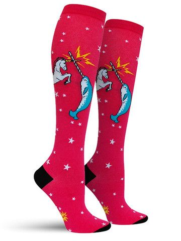 Unicorn vs Narwhal Knee High