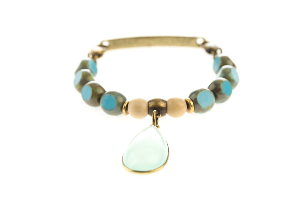 Focal Bangle Turquoise Drop - Across The Way