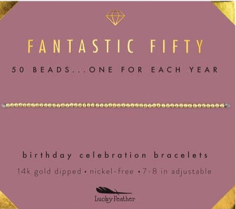50th Birthday bracelet