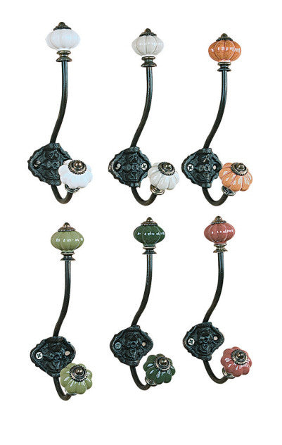 Dbl Hook Ceramic knobs - Across The Way
