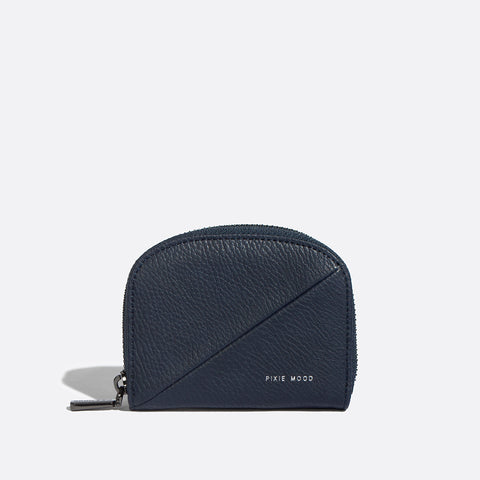 Ida Card Case - Pebbled Navy - Across The Way
