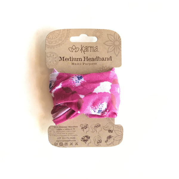Half Headband - Pink Poppies