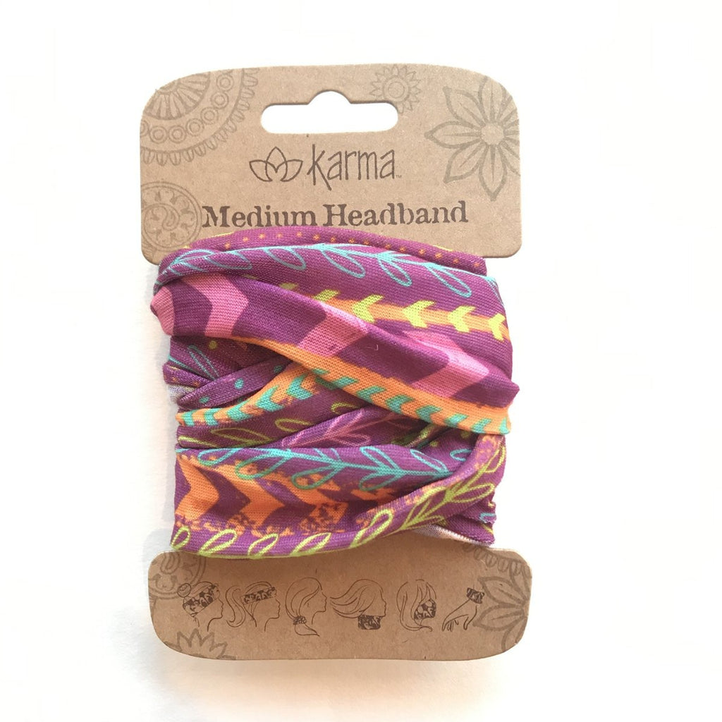 Half Headband - Pink Multi Stripes