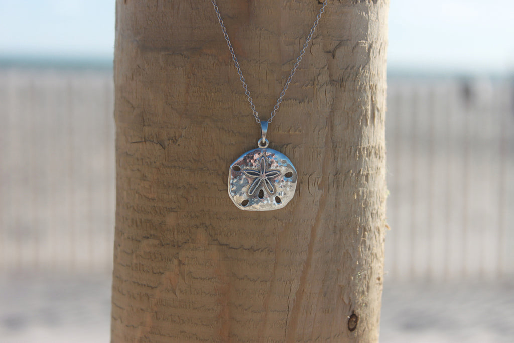 Sterling Silver Sand dollar Pendant - Across The Way