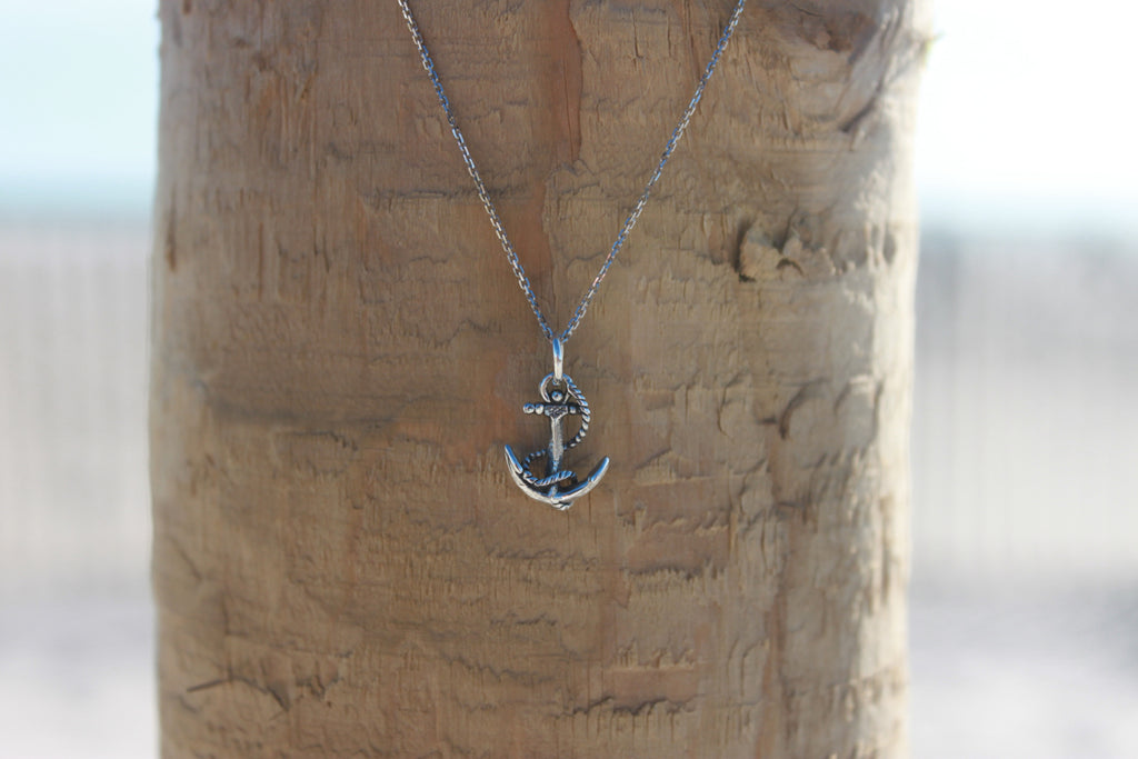 Sterling Silver Anchor Pendant - Across The Way