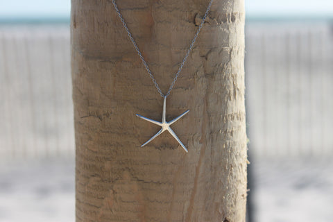 Sterling Silver Starfish Pendant - Across The Way