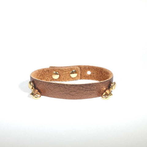 Refined Leather Cuff Bronze/Gold