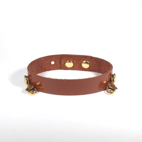 Refined Leather Cuff English Tan/Gold