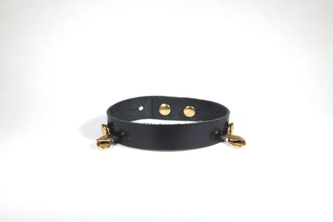 Refined Leather Classic Cuff Black/Gold