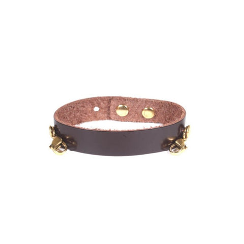 Refined Leather Cuff Mahogany/Gold