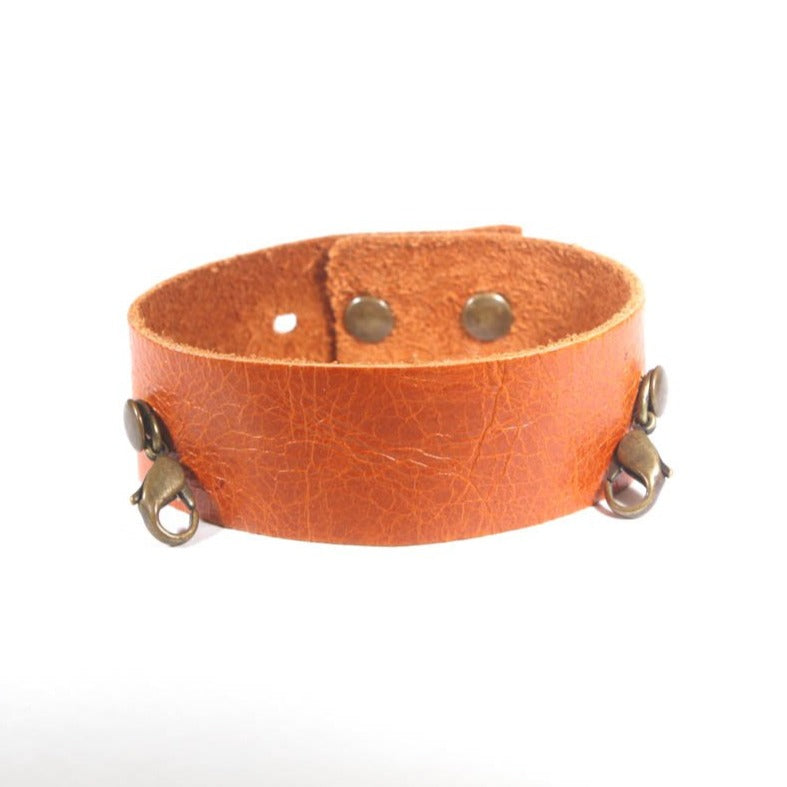 Thin Leather Cuff Mango/Brass
