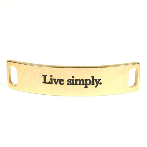 Live Simply Gold
