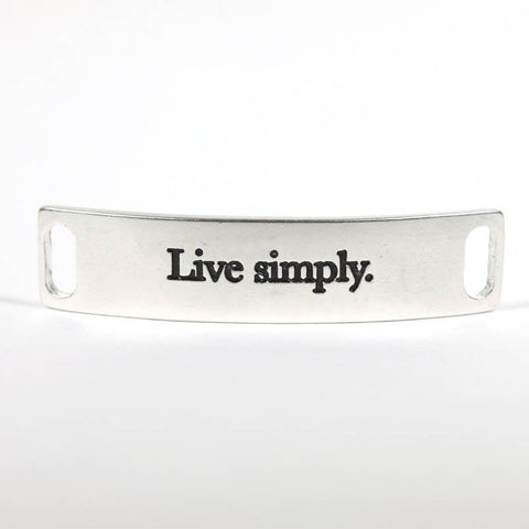 Live Simply Silver