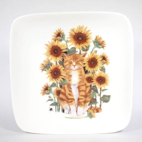 5in Square Cat Plate