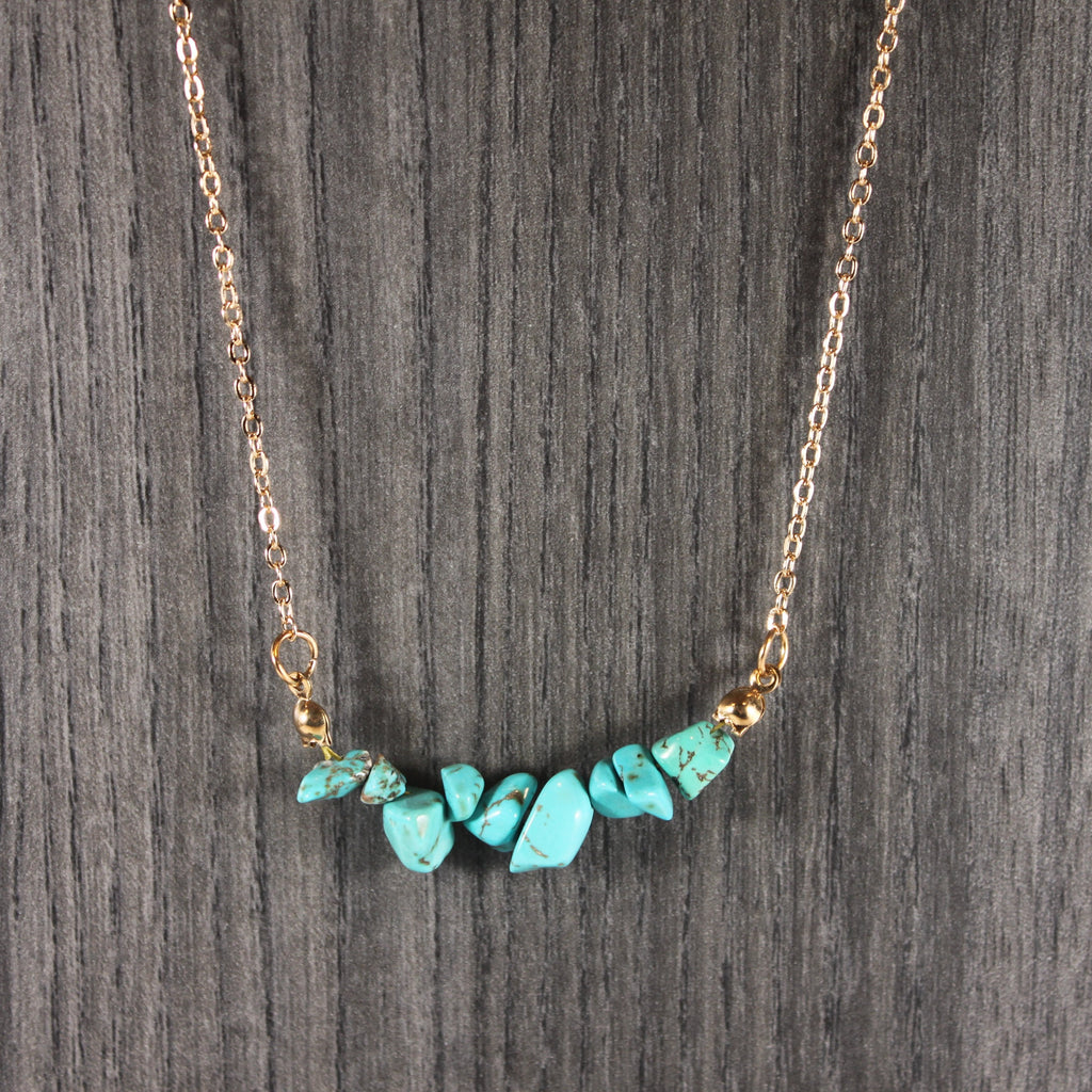 Turquoise Chip Necklace