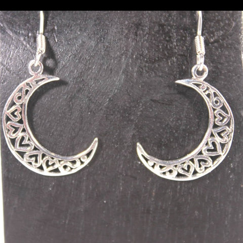 Heart Half Moon Earring