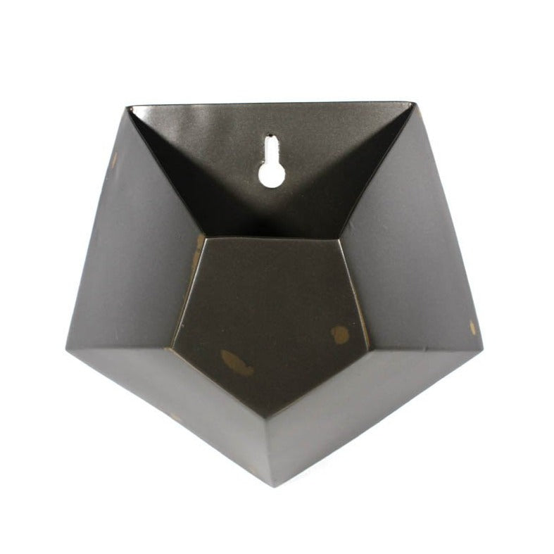 Hexagonal Iron Wall Vase - Single