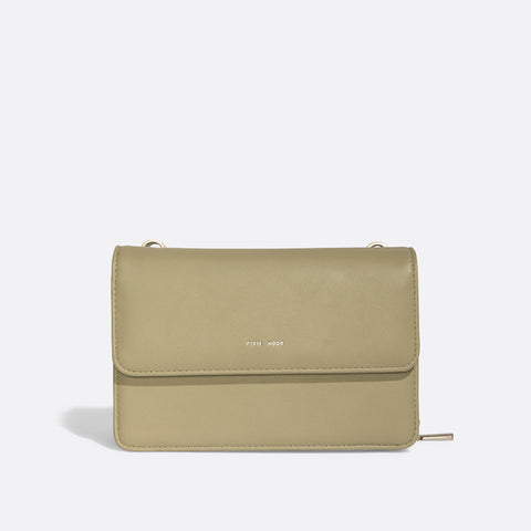 Jane 2-in-1 Wallet Purse -Sage /  Cork