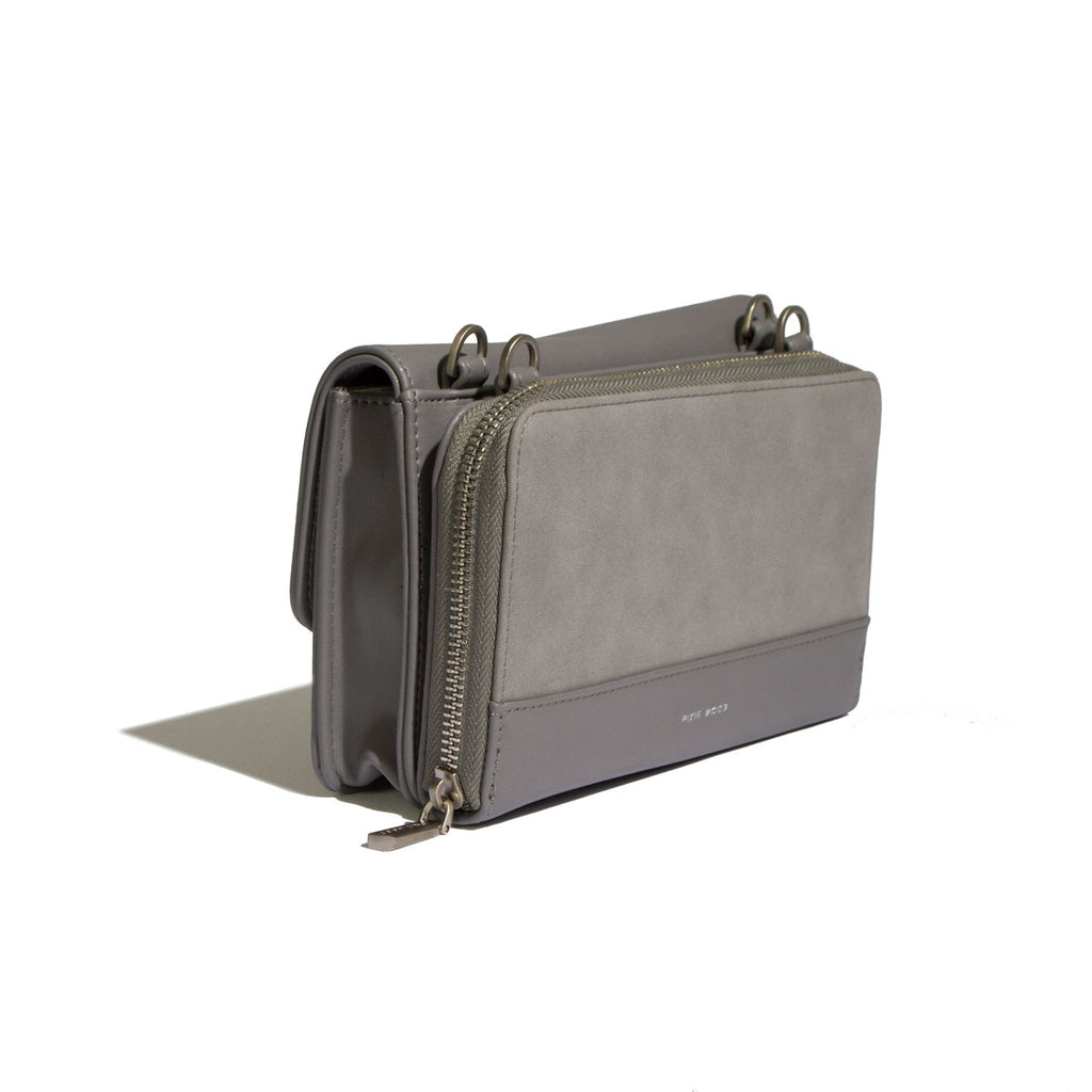 Jane 2-in-1 Wallet Purse - Grey / Nubuck - Across The Way