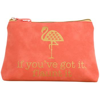 Flaunt It Flamingo Cosmetic Bag